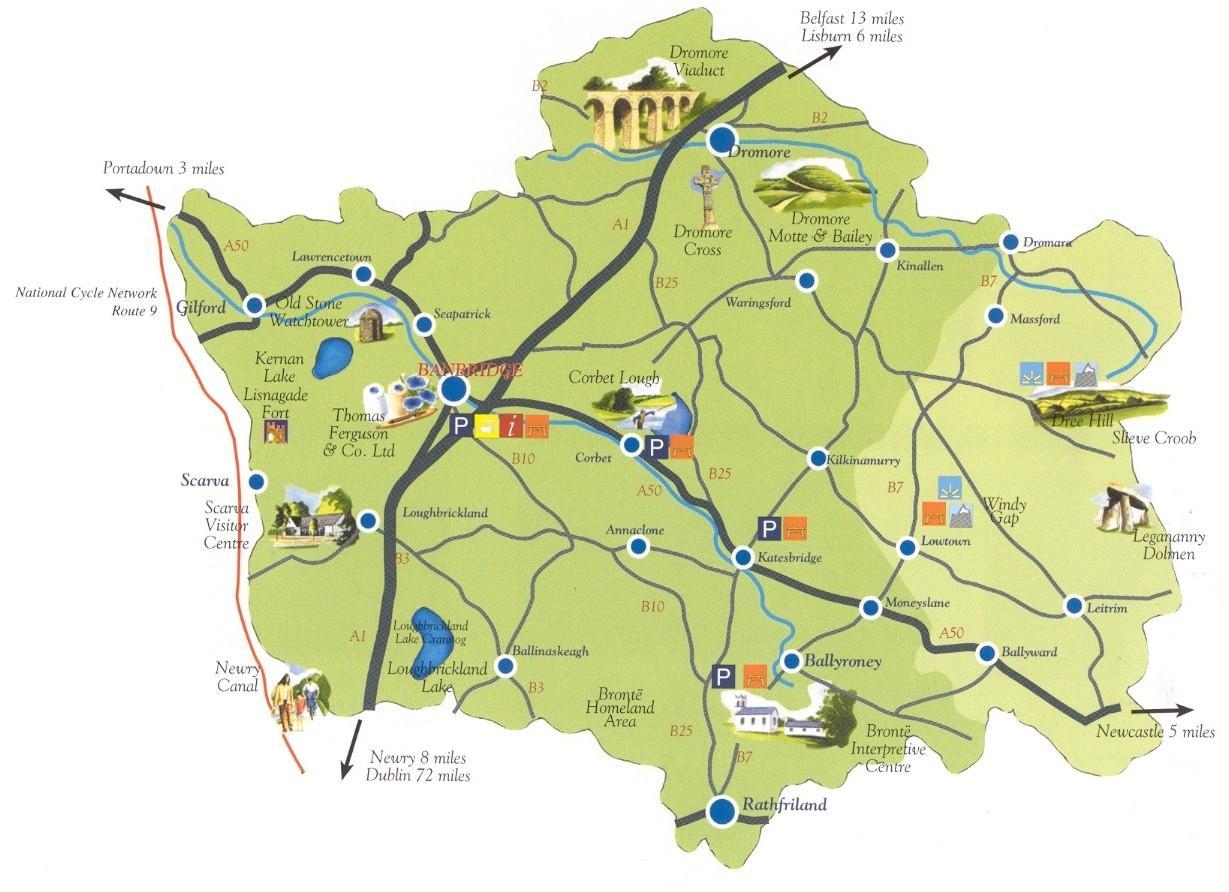 Map Of N Ireland.Zemėlapis Co Zemyn N Airija Zemėlapyje Co Zemyn N Ireland Siaurės
