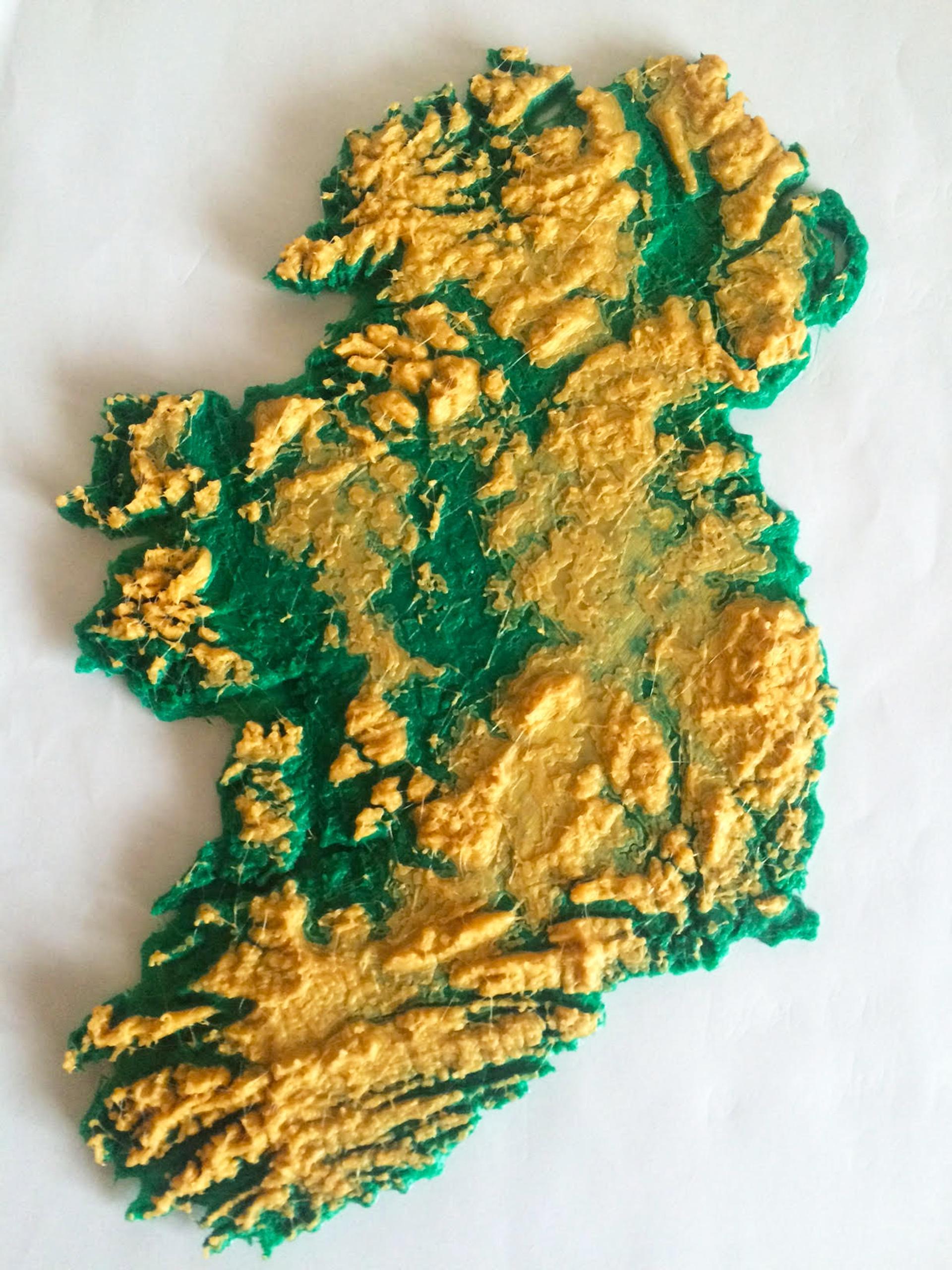 Map Of Ireland 3d.3d Zemėlapis Airija Map 3d Map Of Ireland Siaurės Europoje Europa