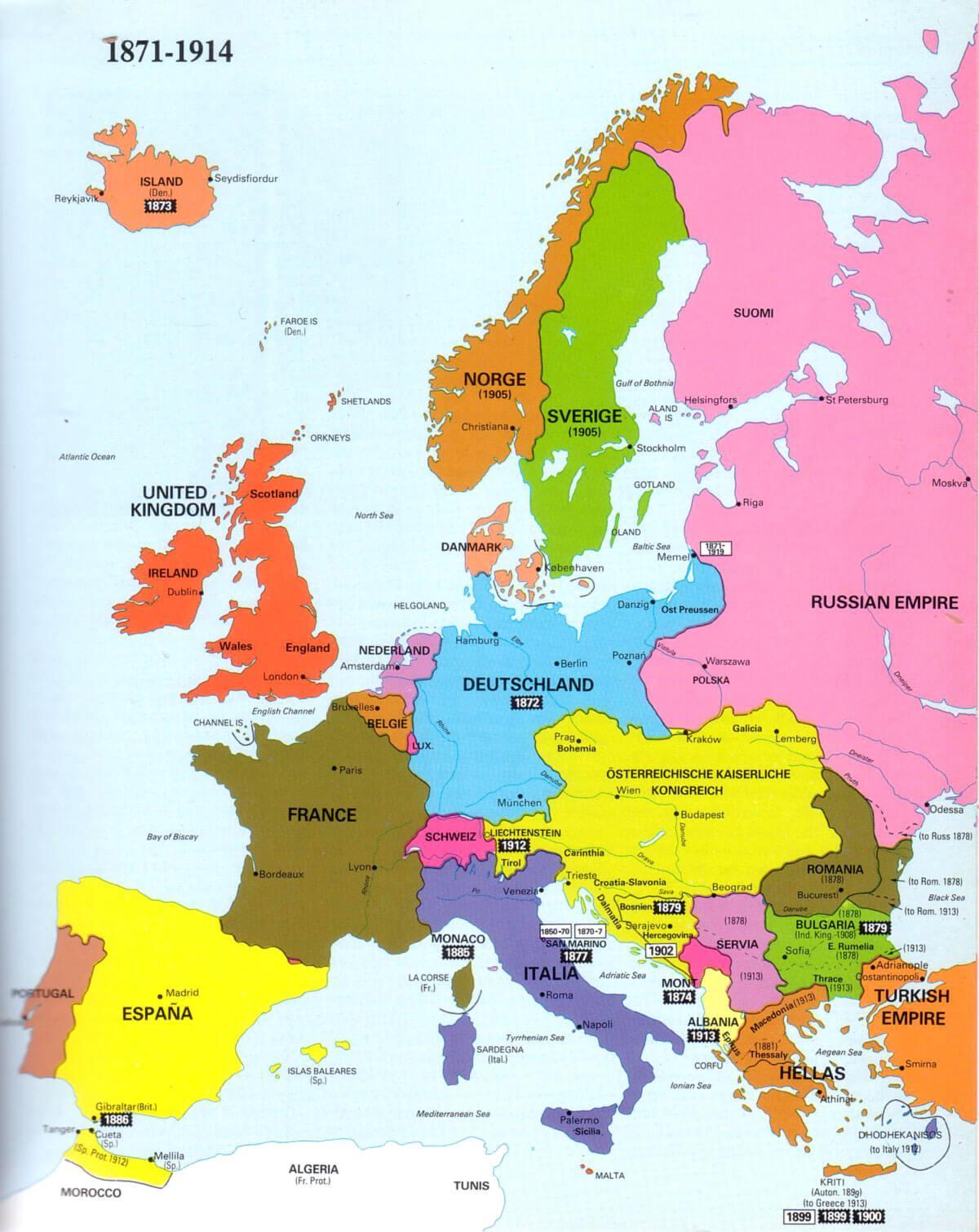 Karta Balkana 1878.Airijos Zemėlapis Europa Zemėlapyje Airija Ir Europa Siaurės